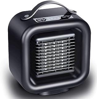 HWY 1000W / 650W PTC Calentador de Espacio de cerámica Mini Calefactor eléctrico Ventilador con oscilación automática Equipado con protección contra el sobrecalentamiento y la inclinación Viento para