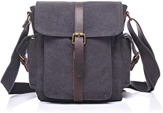 Mens Bag Mens Large Vintage Canvas Backpack School Laptop Bag College Briefcase Satchel Shoulder Bag High capacity