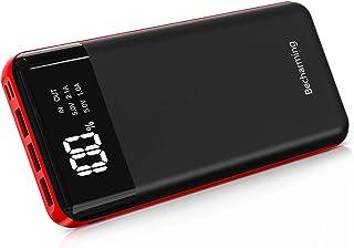 「Becharming 新登場モバイルバッテリー 25000mAh」モバイルバッテリー 超大容量 25000mAh PSE 認証済 2種類入力ポート(micro USB&lightning USB) LED残量表示 スマホ充電器 軽量 持ち運び...