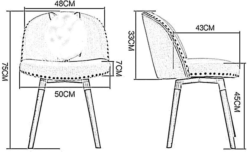 Chaise THBEIBEI Confortables Ergonomie délicates Texture Dossier Pieds en Bois Massif à Long Maximum Poids Assemblage Facile Période X Forme en Bois Massif (Color : E) E