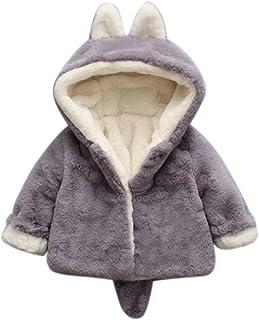 Giacca Bambino Paillettes,Homebaby Giacca Del Mantello Del Cappotto Di Inverno Della Neonata Giubbotto Vestiti Caldi Spessi Felpa Maniche Lunghe
