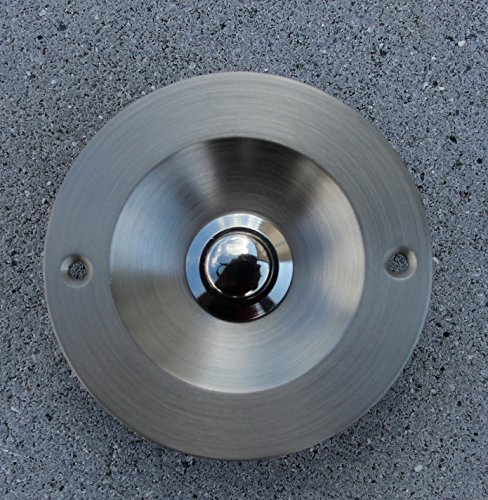 SCHARF metall design Klingel, Klingelplatte, Türklingel, Klingeltaster Chrom