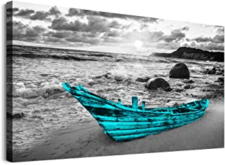 Canvas Wall Art for kitchen family Living Room Wall decor modern Black and white seaview painting farmhouse Bedroom bathro...