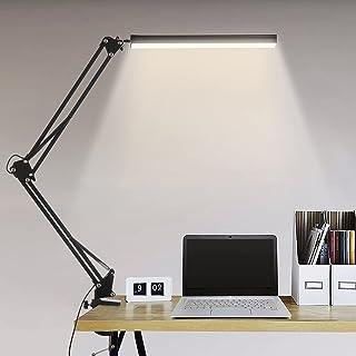 Lampe de Bureau LED, BIENSER 14W Lampe de Table Architecte Pliable avec Pince, 10 Niveaux de Luminosité X 3 Modes de Coule...