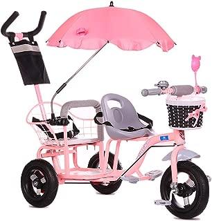 CHEERALL Bicicleta de Triciclo Doble para niños, Cochecito