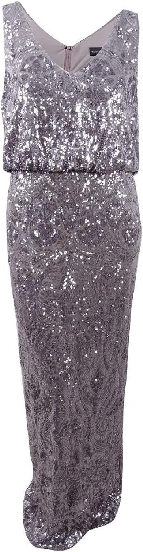 Betsy & Adam Womens Plus Sleeveless FullLength Evening Dress