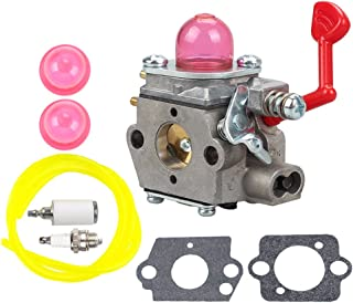 Buckbock WT-875 Carburetor with Fuel Line Filter Spark Plug Kit for Craftsman Poulan Pro Blower McCulloch Blower MAC GBV325 M325 M320 MC200VS Blower 545081855