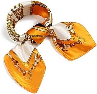 (ロージー)Rosy* 【シルク風 アンティーク調 スカーフ】お洒落 正方形 ツイリー バッグ シュシュ ヘッドドレス ベルト ブレスレット 巻き方 アレンジ 自由 トレンド おしゃれ レディース