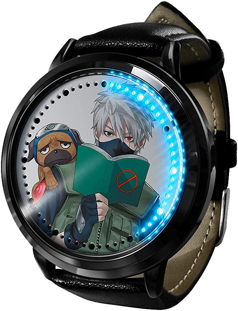 In stock Anime Watch Naruto Max 74% OFF Kakashi LED F Digital Waterproof Screen Touch