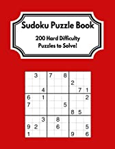 Sudoku Puzzle Book: 200 Hard Difficulty Puzzles to Solve! - Great Gift For Adults and Older Adults!