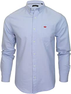 BRAVE SOUL Mens Shirt Pompei' Long Sleeved Oxford