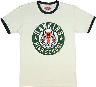 Stranger Things Hawkins High School Tigers Adult Men's Ringer T-Shirt
