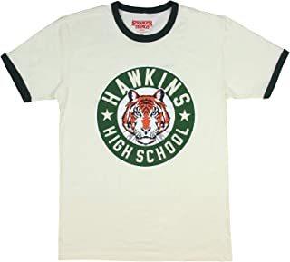 Stranger Things Hawkins High School Tigers Adult Men's Ringer T-Shirt