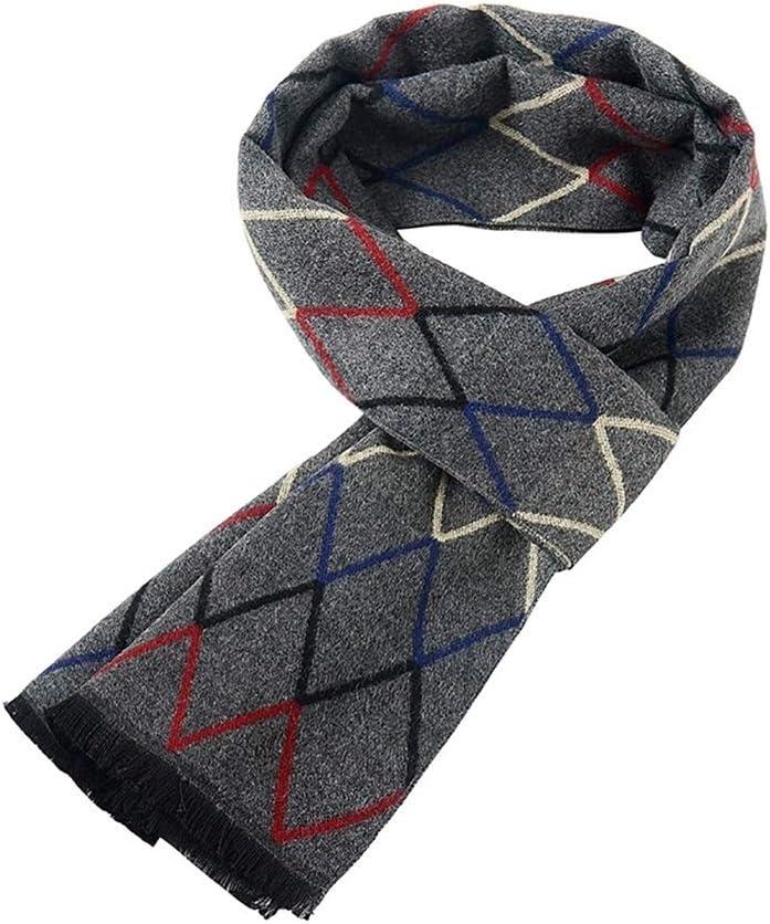 Scarves Herren Neck Warmer Scarf Men Winter Soft Warm Scarf Fashion Premium Long Cashmere Feel Scarves Lover Boyfriend Winter Schal (Color : Grey)
