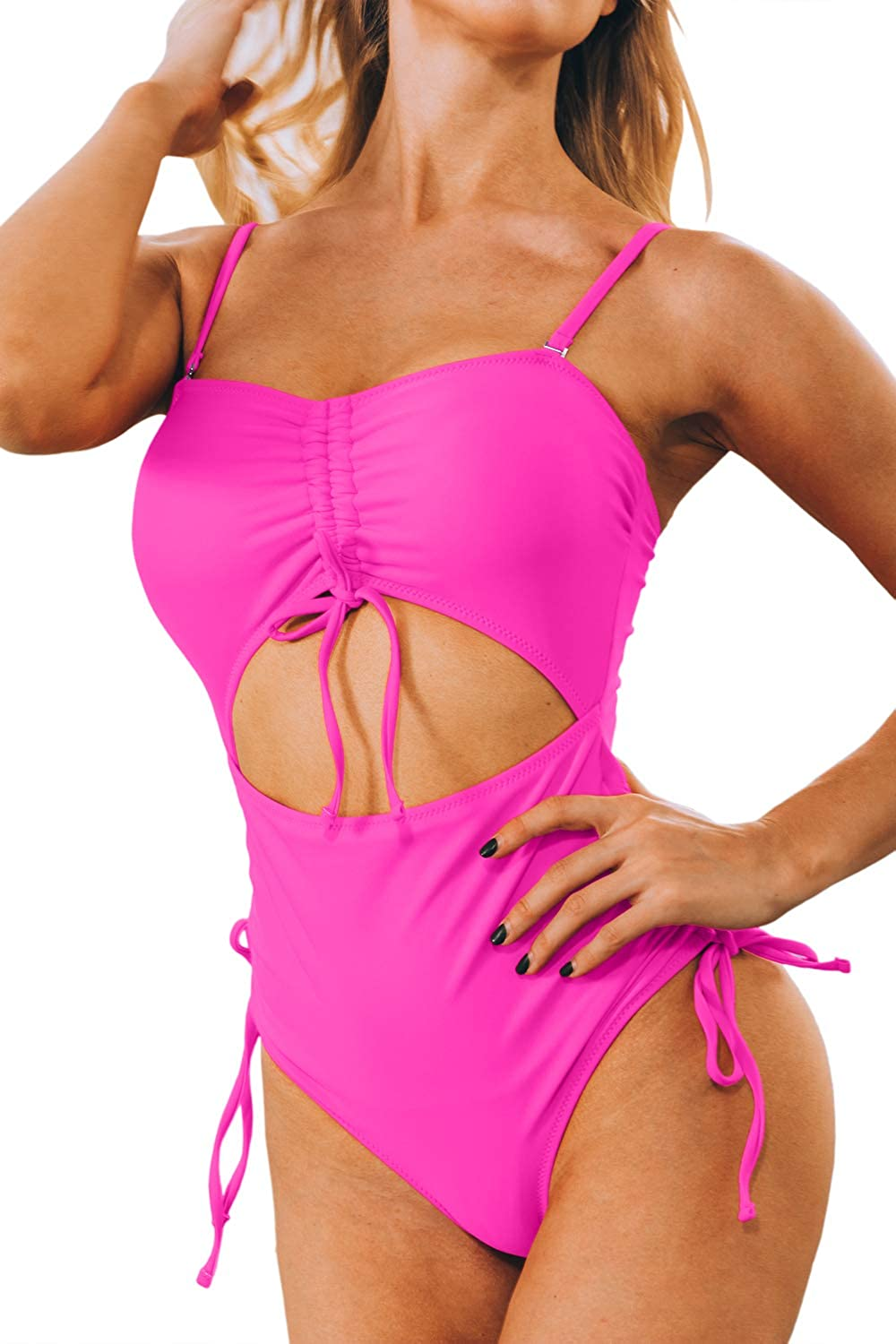 Mulisky Women's High Waisted Swimsuit Out Cut Max 41% service OFF Bandeau Tummy