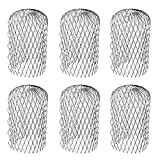 Orgrimmar 6PCS Gutter Guard Strainer Aluminum Downspout Mesh Filter Preventing Blockage Leaves Debris from Clogging Pipes(3 inch)