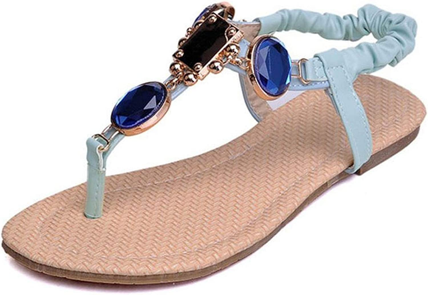 Meiguiyuan Size 31-44 Women Flats Sandals Clip Toe Rhinestones Bling Women Sandals Fashion Elegant shoes