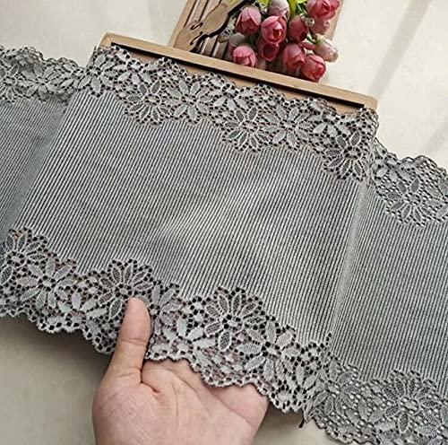 SELCRAFT 1 Meter/lot 2cm Width Luxury Coffee Burgundy Blue Stretch Elastic Lace Trim Mesh for Bra Underwear Style 1155