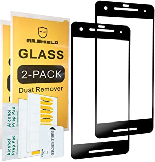 [2-Pack]-Mr.Shield for Google Pixel 2 [Tempered Glass] [FullCover] [Black] Screen Protector with Lifetime Replacement