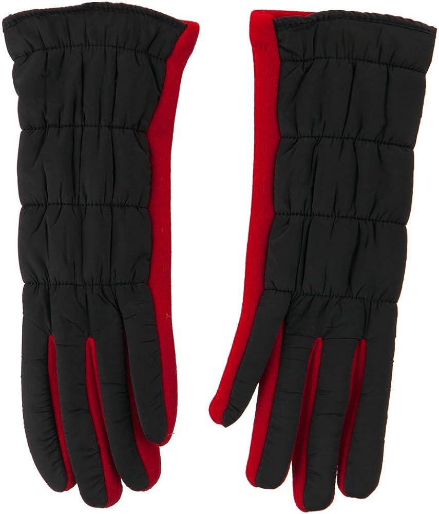 Women's Ruffle Texting Glove - Black Red