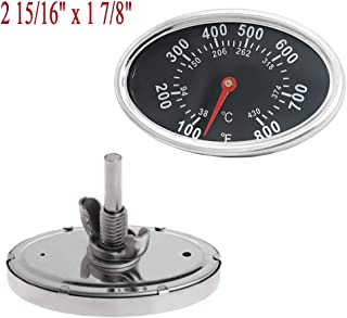 Lid Thermometer Temperature Gauge Replacement Parts for DYNA-GLO DGF510SBP, DGF493BNP, BBQ Grillware GGPL-2100, Heat Indicator for Backyard Grill BY13-101-001-12, GBC1461W, BY13-101-001-13 and others.