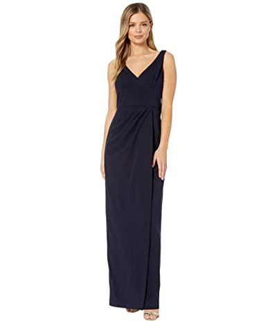 Adrianna Papell Knit Crepe Dress (Midnight) Women