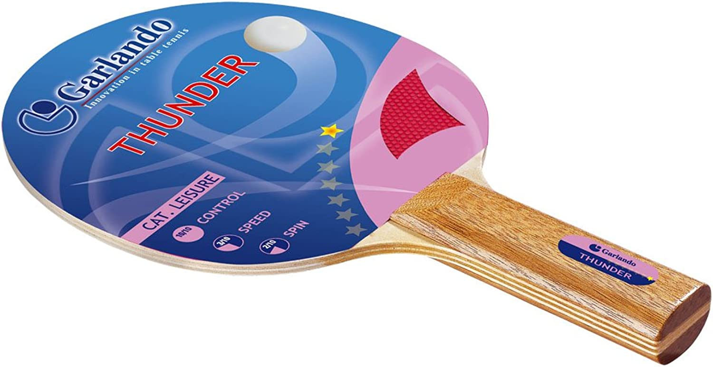 Garlando Tornado Table Tennis Racket Paddle, 6 Star Rating, ITTF Approved