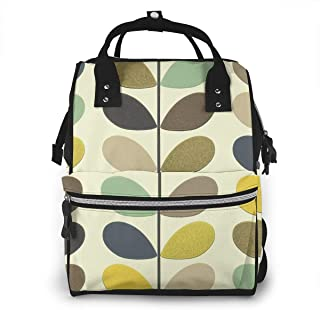 Orla Kiely Wallpaper Large Capacity Diaper Tote Nappy Bag Mummy Backpack for Baby Care