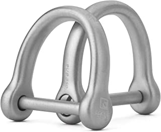 "TISUR D Ring Shackle for keychain,Key Ring DIY Leather Craft Purse 2 pcs with Screw (2/3"" Matte)"