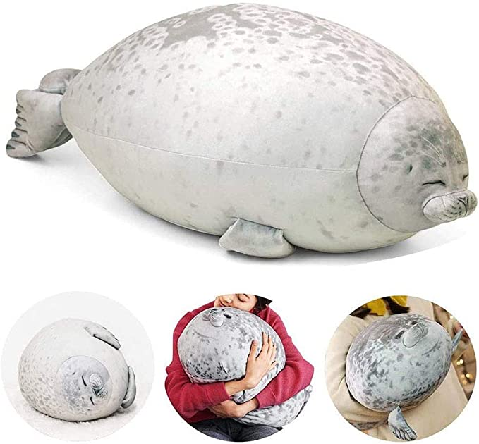 Willcome Cuddly Blob Sea Lion Plush Toy Stuffed Animal Lifelike Sea Animal Soft Hugging Pillow Toy for Baby Children Gifts 30cm//11.81in
