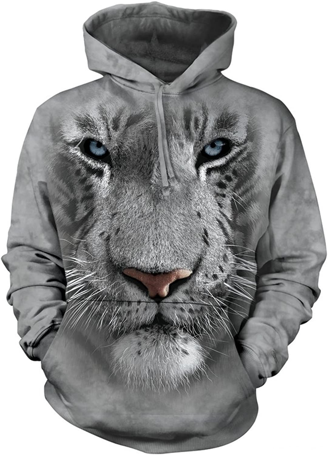 The Mountain White Tiger Face Hoodie