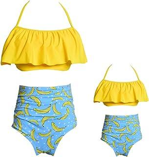 Asdfooo Costumi da Bagno delle Ragazze Costume da Bagno di Colore Solido delle Donne Mutandine Top Senza Spalline Tronchi da Bagno Piscina Party Beach Nuoto novità Costume da Bagno