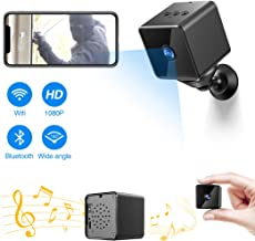 $49 » Bluetooth Mini SpyCamera,ZZCP WiFi Hidden Camera HD 1080P PortableNanny Camwith Night Vision,MotionDetectionand Bluetooth Speaker,Indoor Outdoor WirelessHomeSecuritySurveillanceIP Camera