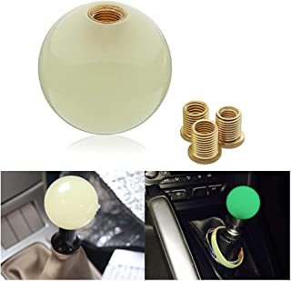 Pursuestar White Round Cue Luminous Ball Shift Knob Car Gear Shifter Head Fit Most Manual Automatic Vehicles 5 6 Speed