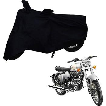 Mototrance Premium Quality Bike Cover for Royal Enfield Classic 350 (Black)