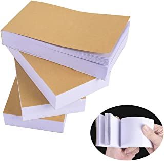 """Vencer Blank Flipbooks (Flip Book) for Animation, Sketching, and Cartoon Creation, 6 Pack, 4.5"""" x 2.5"""", 180 Pages (90 Sheets)"""