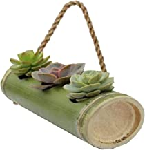 RAREPRODUCTS Bamboo Planter Rope Hanging 3 Pot Model