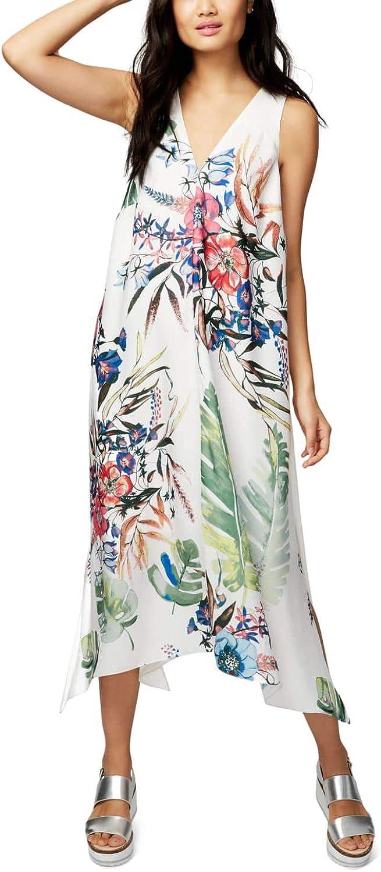 Rachel Roy Womens Printed Contrast Dress XXL Havana Floral