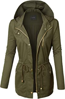 Lightweight Casual Military Hooded Anoraks Safari Jacket with Drawstring (for S-3XL)