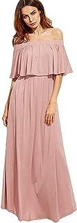 Best pink casual maxi dress Reviews