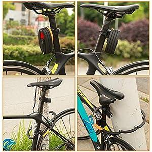 WOTOW Candado plegable para bicicleta con soporte, nivel de seguridad 10 alto con 3 llaves, para bicicleta de montaña, de carretera, BMX, MTB, color negro