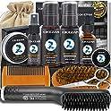 Xikezan Beard Straightener Kit, Beard Growth Grooming Kit