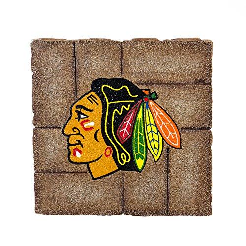 Team Sports America Chicago Blackhawks Garden Paver Team Logo Decorative Stepping Stone