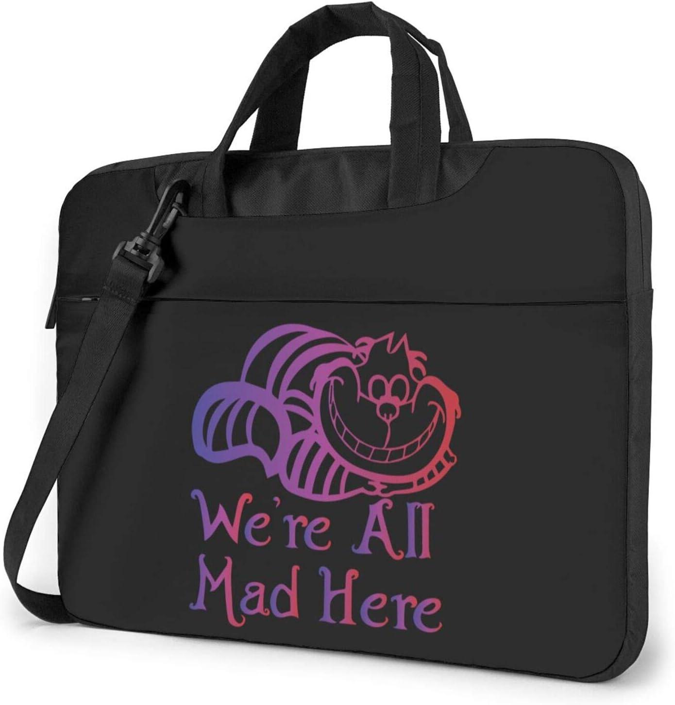 We're All Mad Here Laptop Bag 14 Shoulder Com Max 45% OFF Max 86% OFF Messenger Inch