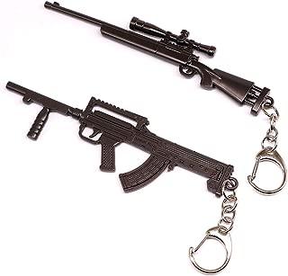 Gun Keychain Sniper and Rifle Shooting Gun Key Chain Bag Charm Pendant for Men Metal Weapon Gun Shaped Keychain Keyring for Men and Boys