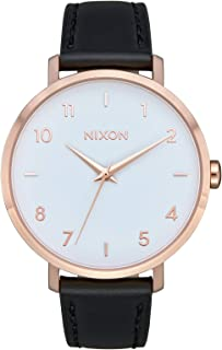 Nixon Arrow Casual Women's Watch (38mm. Leather Band) Rose Gold/White/Black