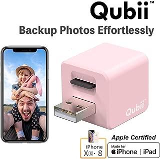 Qubii iPhone MAC Windows カードリーダー 充電 自動バックアップ マイクロSD microSD MFi認証 専用アプリ メーカー保証 12ヶ月 MKPQ-P