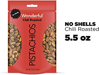 Wonderful Pistachios, No Shells, Chili Roasted, 22 Ounce Resealable Pouch (pack of 2 22 Ounce)