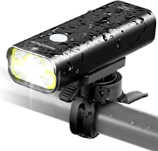 Sahara Sailor Front Bike Light USB Rechargeable - Super Bright 800 Lumens Aluminum Alloy IPX6 Waterproof Bicycle Light Supports Wired Remote Control - Fits ALL Bicycles, Road, MT