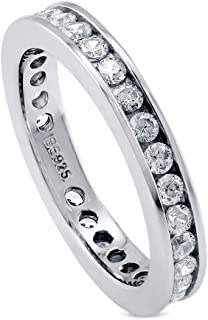 channel set eternity wedding band
